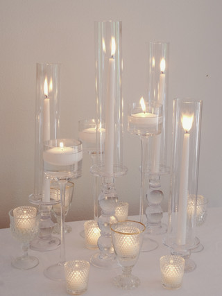 Clear Candle Assortment-tapers
