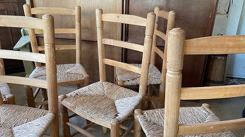 Lot de chaises paillées