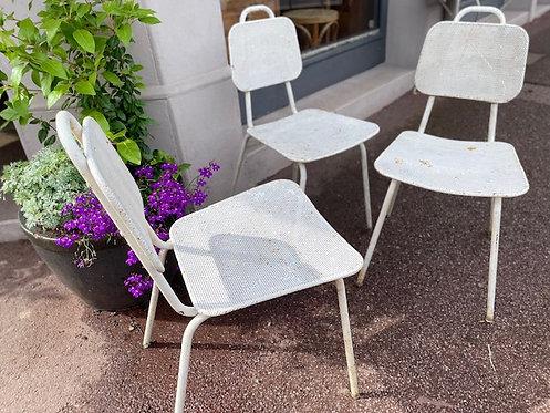 Lot de chaises métal
