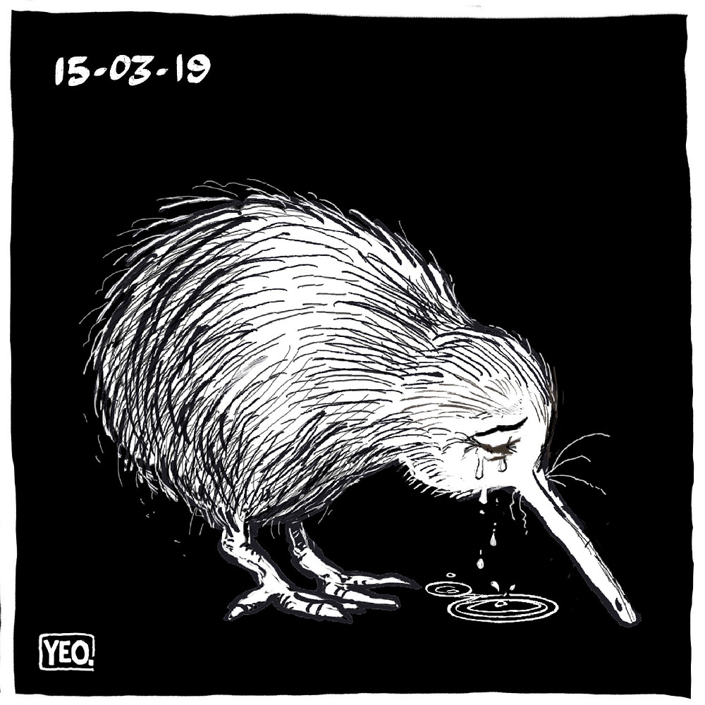 Kiwi crying mourning Christchurch terrorist attack March 2019