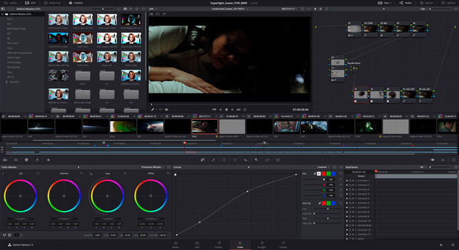 Davinci Resolve Colour Correction and Grading Page
