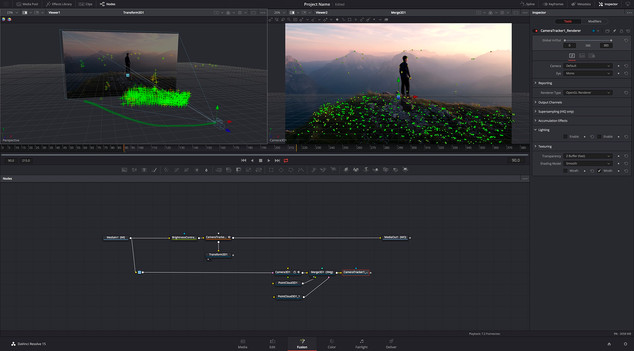 Davinci Resolve Fusion Page with VFX and Animation Features