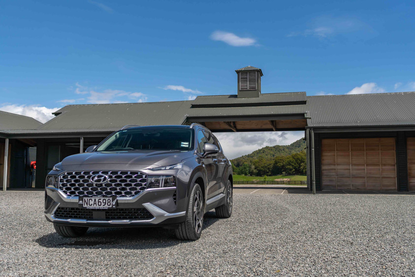 Hyundai Santa Fe at Poronui Stables, New Zealand