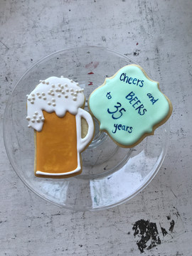 Cheer and Beers Sugar Cookies