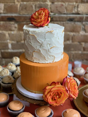 Two Tier Fall Wedding