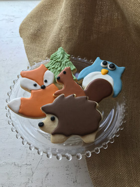 Woodland Creatures Sugar Cookies