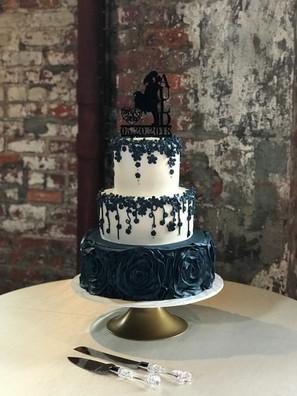 Bold Navy Wedding