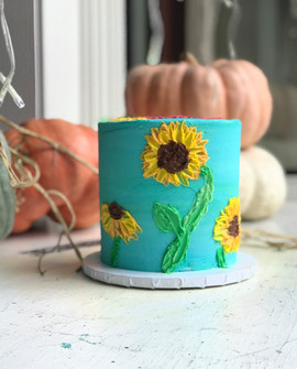 Buttercream painted flowers