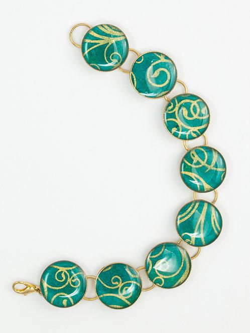 Golden Swirl - Bracelet
