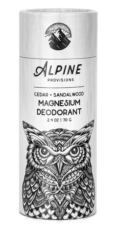 Cedar + Sandalwood Magnesium Deodorant