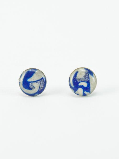 Blue Smoke - Earring Stud
