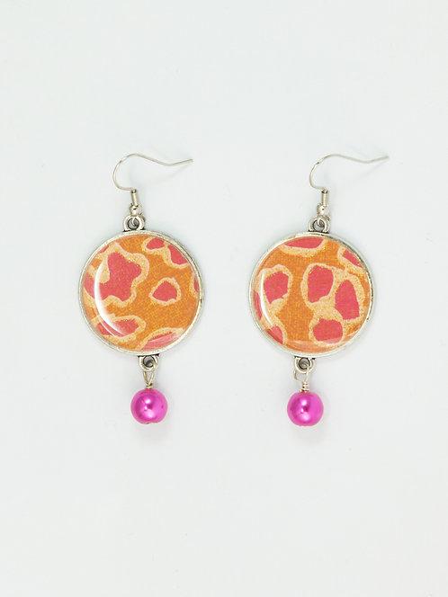 Pink Leopard - Earring