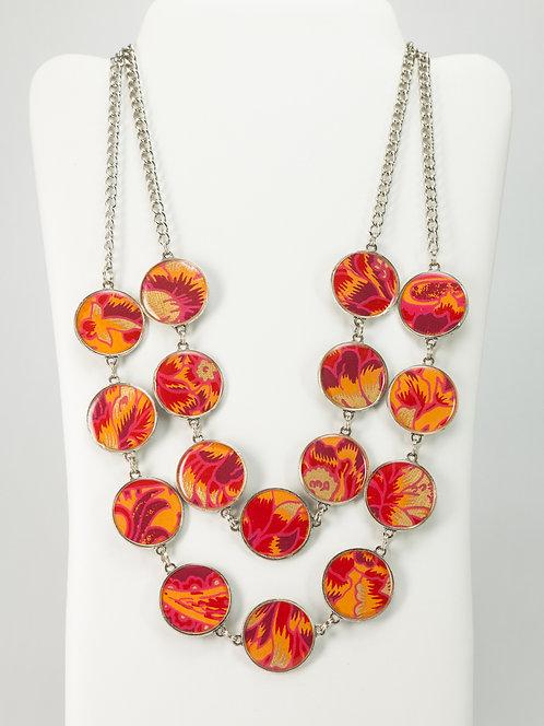 Fiery Flower - Necklace
