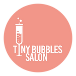 Tiny Bubbles Salon Logo, Hair, Skin, Makeup,
