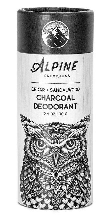 Cedar + Sandalwood Charcoal Deodorant