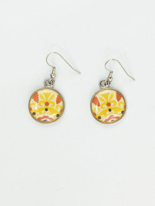 Atomic Yellow Daisy Petal - Earring
