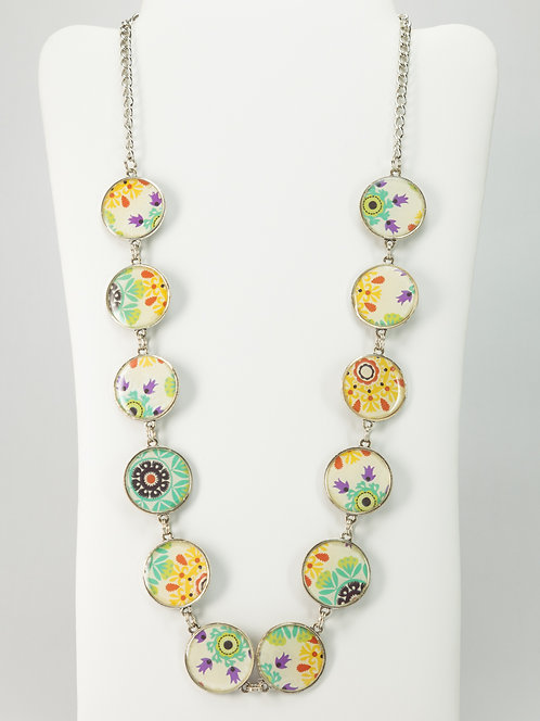 Retro Flowers - Necklace