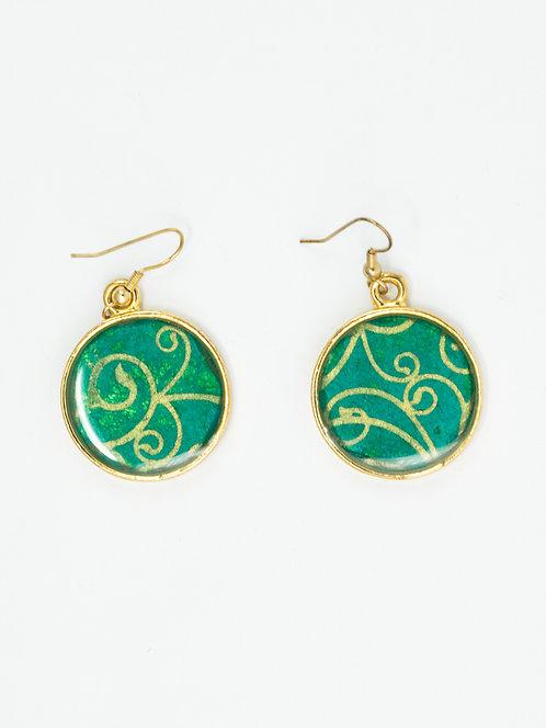 Golden Swirl - Earring