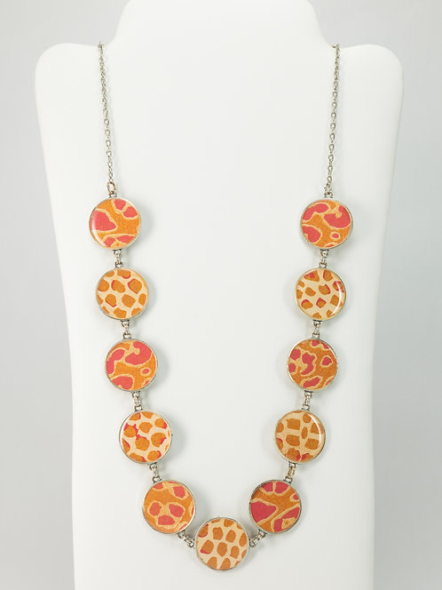 Pink Leopard - Necklace