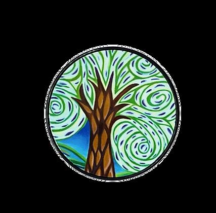 Green Tree Phone Grip