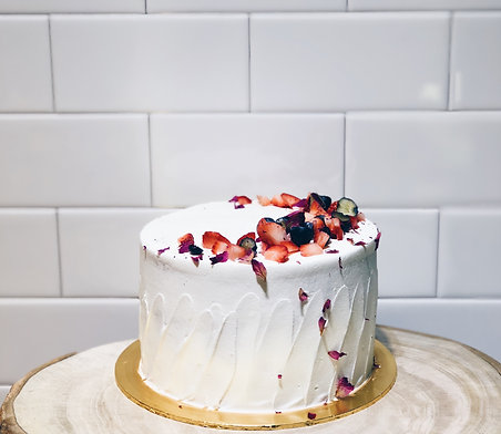 Fresh Cream Rose Berries Shortcake
