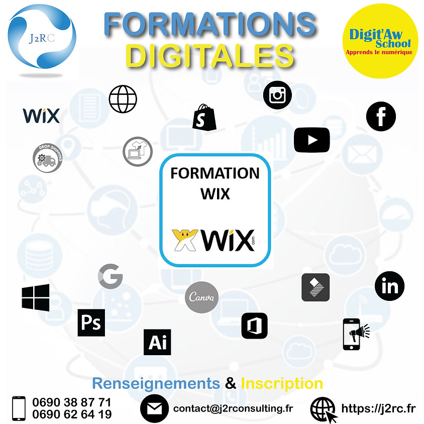 CREER SON SITE WEB AVEC WIX (4 SESSIONS DE 2H) by J2R & DIGITAW SCHOOL