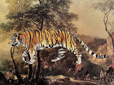 Tiger- repurposed vintage