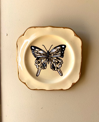 Butterfly Vintage Plate