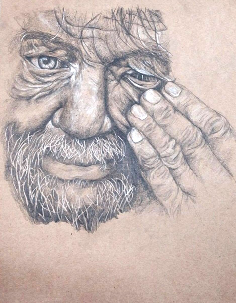Old mans face- Commission