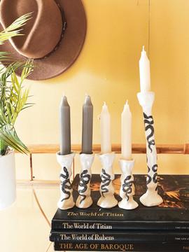 Snake Candlesticks