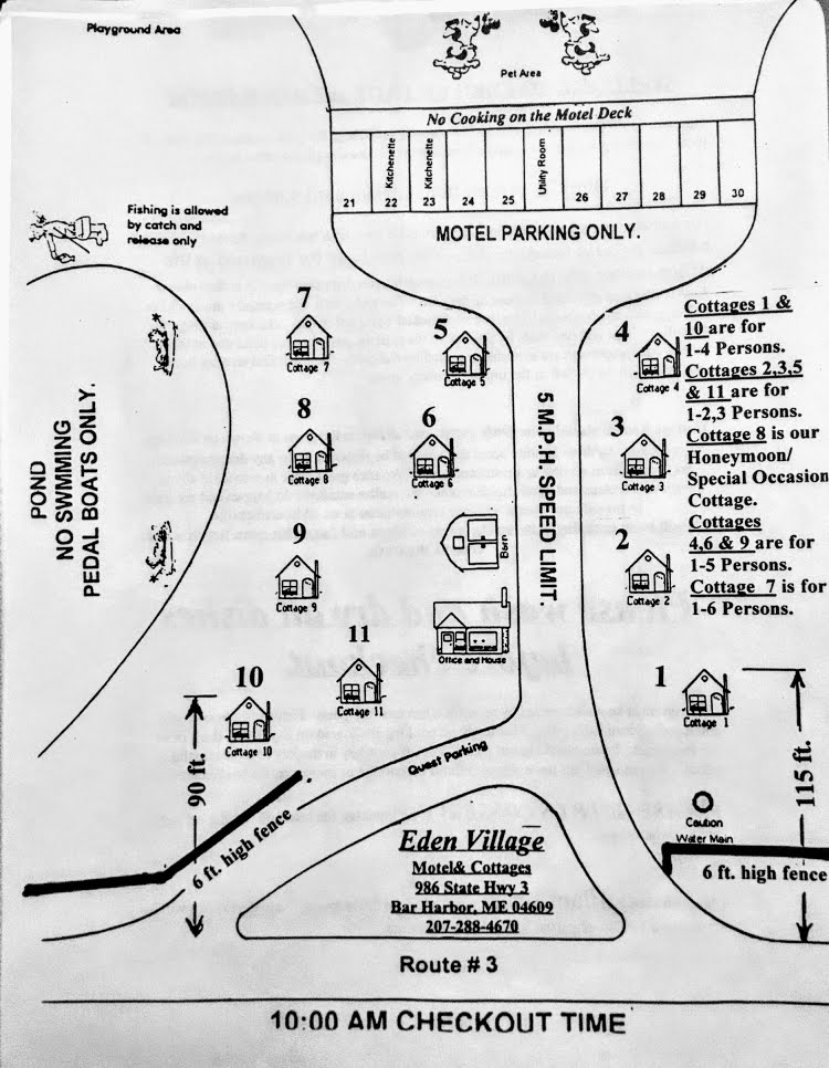 Eden Village Motel & Cottages Map
