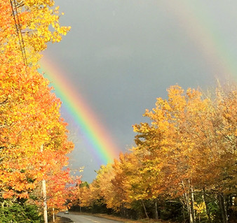 Acadia Double Rainbow October Sky