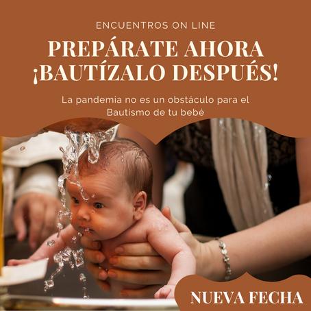 Ahora la preparación al bautismo es ON LINE (nueva fecha)