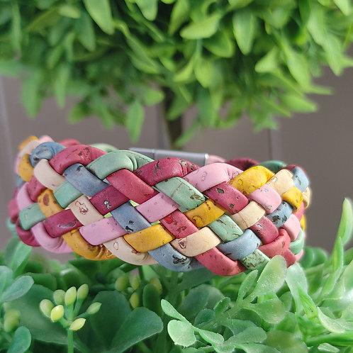 Spring fling cork bracelet
