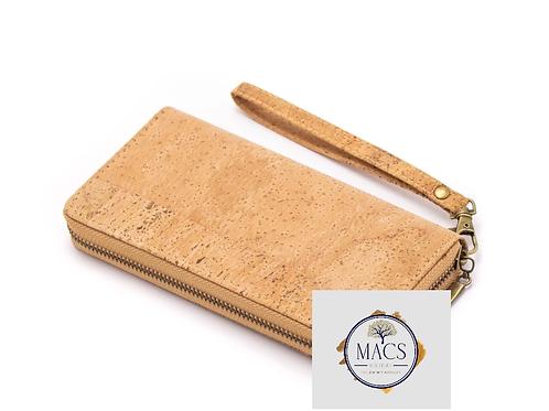 Cork wristlet wallet