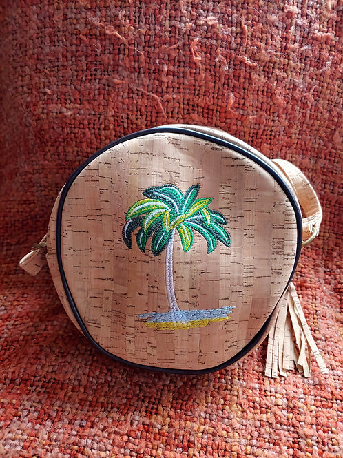 Palm tree cork bag