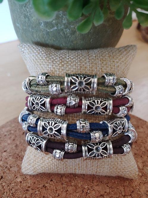 Adjustable cork bracelet