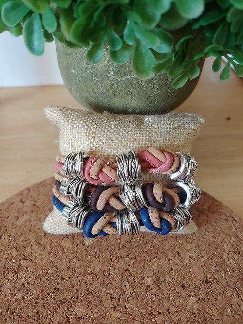 Cork knot bracelet