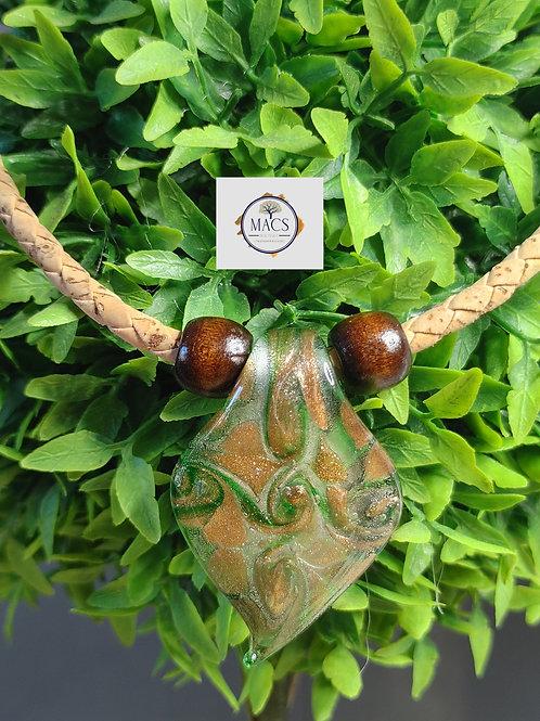 Murano glass pendant on cork