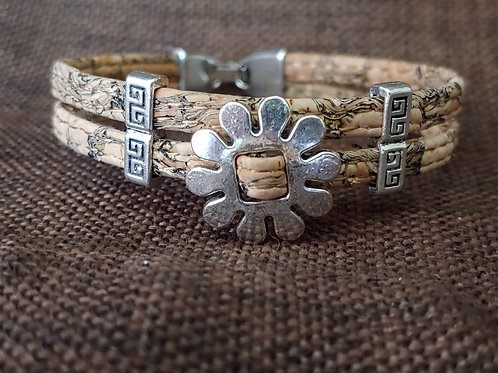 Flower child cork bracelet