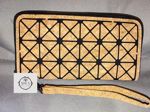 Geo cork wristlet/wallet