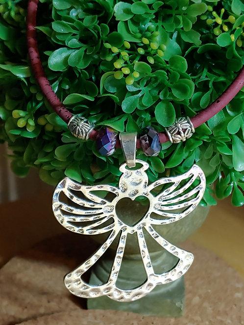 Angel cork necklace