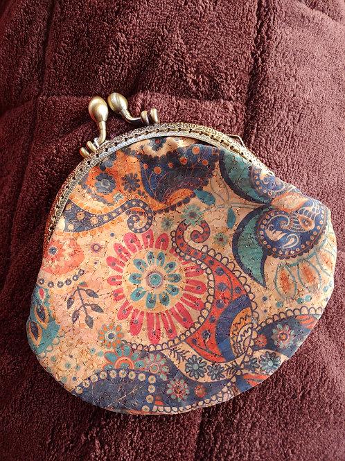 Retro cork change purse