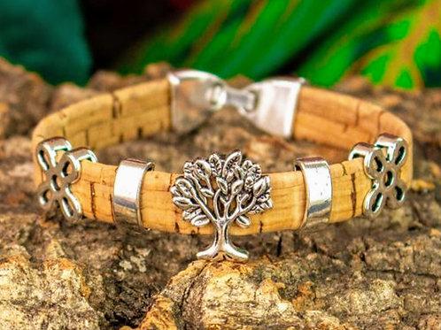 Tree of life cork bracelet