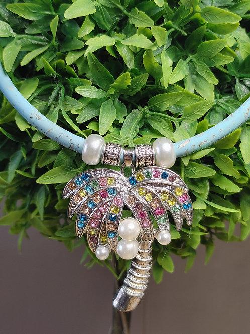 Palm Tree cork necklace
