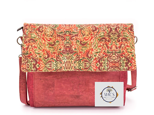 Red cork crossbody/shoulder bag