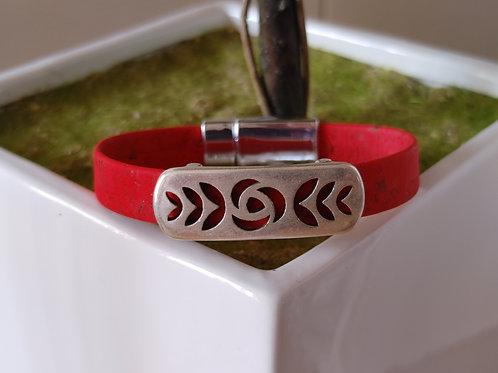 Red cork bracelet