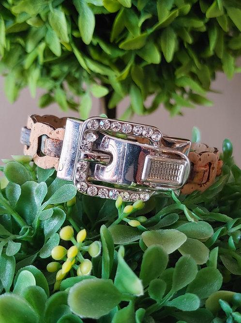 Bling and cork bracelet