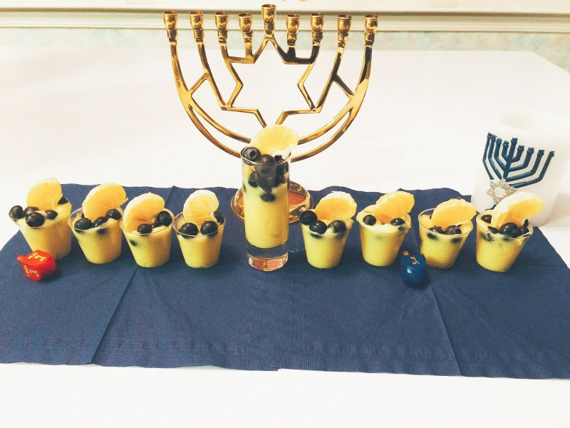 Menorah Pudding Cups