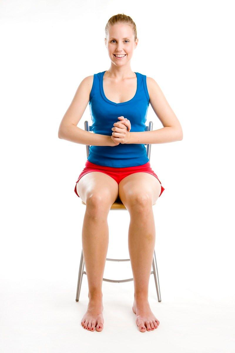 seated jumping jacks